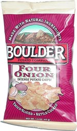 Boulder Potato Company Four Onion Intense Potato Chips!