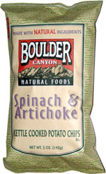 Boulder Canyon Natural Foods Spinach & Artichoke Kettle Cooked Potato Chips