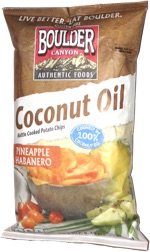 Boulder Canyon Coconut Oil Kettle Cooked Potato Chips Pineapple Habanero