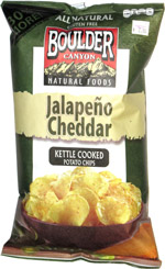 Boulder Canyon Natural Foods Jalapeno Cheddar Kettle Cooked Potato Chips