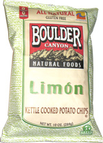 Boulder Canyon Natural Foods Limón Kettle Cooked Potato Chips