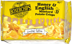 Boxerchips Honey & English Mustard Potato Crisps
