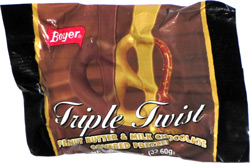 Boyer Triple Twist Peanut Butter & Milk Chocolate Covered Pretzel
