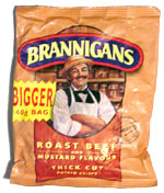 Brannigans Roast Beef and Mustard Flavor Thick Cut Potato Crisps