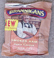 Brannigans Smoked Ham and Pickle Flavor Thick Cut Potato Crisps