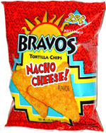 Bravos Tortilla Chips Nacho Cheese! Flavor