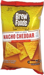 Brew Foods Pairing Snacks Nacho Cheddar Tortilla Chips