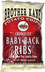 Brother Kane Potato Chips Crinkle Cut Baby Back Ribs