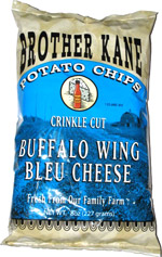 Brother Kane Potato Chips Crinkle Cut Buffalo Wing Bleu Cheese