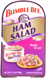 Bumble Bee Ham Salad with Crackers
