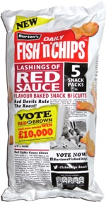 Burton's Daily Fish 'n' Chips Lashings of Red Sauce Flavour Baked Snack Biscuits