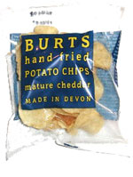 Burts Hand Fried Potato Chips Mature Cheddar Cheese Flavour