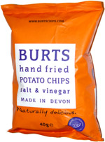Burts Hand Fried Potato Chips Salt & Vinegar