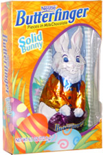 Butterfinger Pieces in Milk Chocolate Solid Bunny
