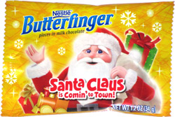 Butterfinger Santa Claus is Comin' to Town
