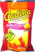 Cadina Crunchy Pea Snacks Hot Cheddar Flavor