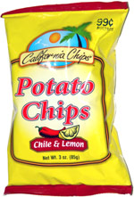 California Potato Chips Lemon and Chile