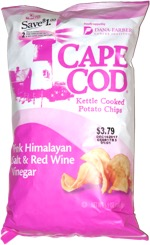 Cape Cod Kettle Cooked Potato Chips Pink Himalayan Salt & Red Wine Vinegar
