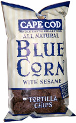 Cape Cod Whole Earth Collection All Natural Blue Corn with Sesame Tortilla Chips