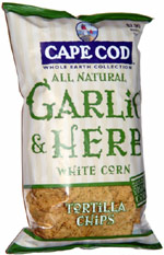 Cape Cod Whole Earth Collection All Natural Garlic & Herb White Corn Tortilla Chips