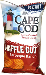 Cape Cod Kettle Cooked Potato Chips Waffle Cut Barbeque Ranch