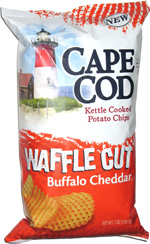 Cape Cod Kettle Cooked Waffle Cut Potato Chips Buffalo Cheddar