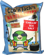 Cap'n Jack's Kettle Chips Chillin' Sea Salt