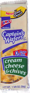 Captain's Wafers Cream Cheese & Chives
