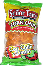 Señor Tom's Con Chile y Limon Corn Chips