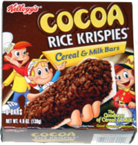 Cocoa Rice Krispies Cereal & Milk Bars
