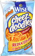 Wise Reduced Fat Cheez Doodles Crunchy