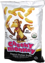 Cheeky Monkey Peanut Butter Puffs