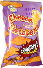Cheese Twisters Crunchy! Cheese Twists!