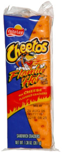 Cheetos Flamin' Hot Brand Flavor Filling on Cheese Flavored Crackers