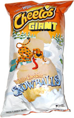 Giant Cheetos White Cheddar Snowballs