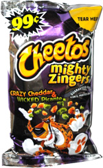 Cheetos Mighty Zingers Crazy Cheddar & Wicked Picante