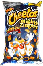 Cheetos Mighty Zingers Ragin' Cajun & Tangy Ranch