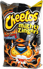 Cheetos Mighty Zingers Ragin' Cajun & Tangy Ranch Dragon Edition