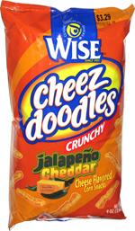 Wise Cheez Doodles Crunchy Jalapeño Cheddar