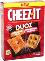 Cheez-Its Duos Cheddar Jack & Sharp Cheddar Pretzel
