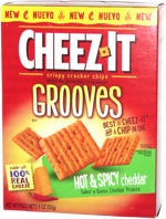 Cheez-It Grooves Hot & Spicy Cheddar