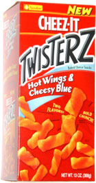 Cheez-It Twisterz Baked Cheese Snacks Hot Wings & Cheesy Blue