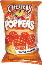 Chester's Poppers Cheese Pizza Waffle Rounds