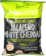 Chia Crisps Jalape�o White Cheddar