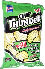 Chip Thunder Wild Sour Cream & Onion Rumble Potato Chips
