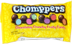 Chomppers Chocolatey Crunchy Fruity Candy