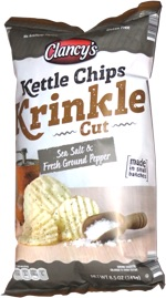 Clancy's Kettle Chips Krinkle Cut Sea Salt & Fresh Ground Pepper