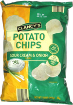 Clancy's Potato Chips Sour Cream & Onion