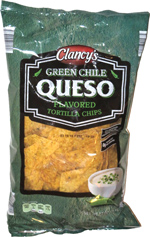 Clancy's Green Chile Queso Flavored Tortilla Chips