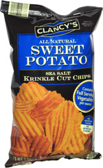 Clancy's All Natural Sweet Potato Sea Salt Krinkle Cut Chips